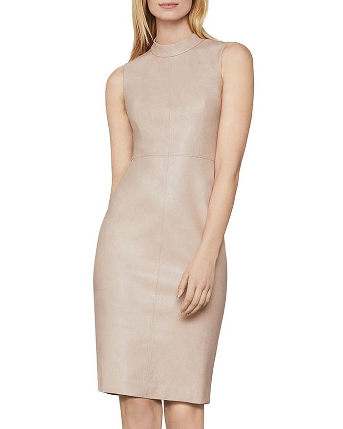 BCBGMAXAZRIA - Faux Leather Sheath Dress