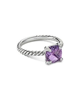 David Yurman - Châtelaine® Ring with Amethyst and Diamonds