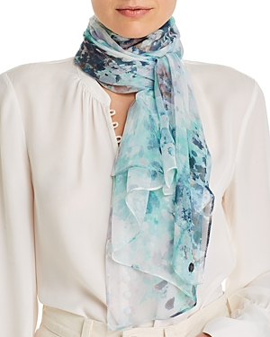 Fraas Watercolor Floral Silk Scarf