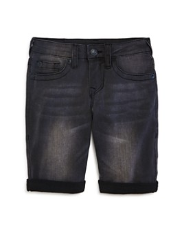 True Religion - Boys' Geno Cuffed Denim Shorts - Little Kid, Big Kid