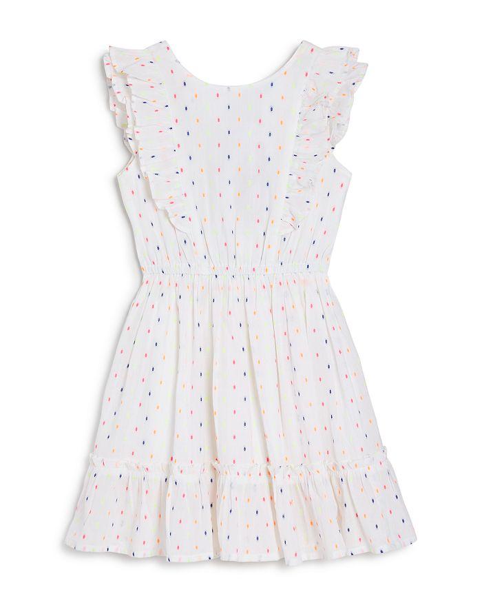 BCBGirls - Girls' Multicolored Jacquard Voile Ruffle Dress - Little Kid