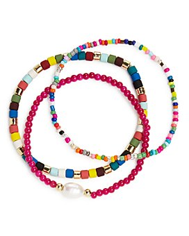 AQUA - Multi-Bead Stretch Bracelets, Set of 3  - 100% Exclusive