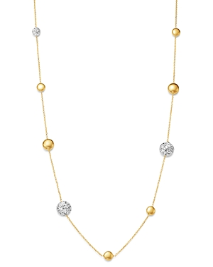 Bloomingdale's Polished Bead Link Chain Necklace in 14K White & Yellow Gold, 18 - 100% Exclusive