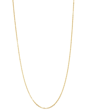 Flat Rolo Link Chain Necklace in 14K Yellow Gold