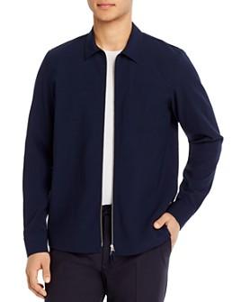 NN07 - Cotton Textured Regular Fit Full-Zip Shirt Jacket