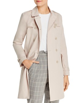 cupcakes and cashmere - Cydney Double-Breasted Cotton Trench Coat