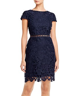 Sam Edelman - Guipure Lace Cap Sleeve Dress