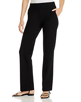Eileen Fisher Petites - Petites Straight-Leg Knit Pants