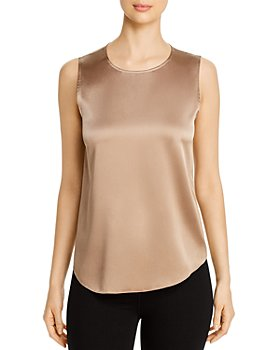Eileen Fisher - Round-Neck Satin Tank