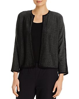 Eileen Fisher - Round-Neck Bracelet-Sleeve Cardigan