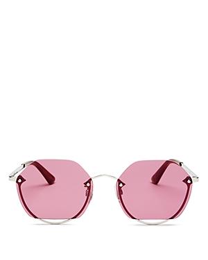 Unisex Rimless Hexagon Sunglasses