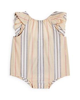 Burberry - Girls' Ruffled Icon Stripe Bodysuit - Baby