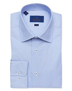 David Donahue Cotton Geo Trim Fit Dress Shirt-Men