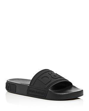 Dolce & Gabbana Women's Logo Pool Slide Sandals