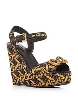 Dolce & Gabbana - Women's Platform Wedge Sandals