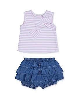 Habitual Kids - Girls' Rosi Stripe Twist-Front Top & Tiered Bloomers Set - Little Kid