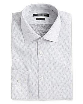 John Varvatos Star USA - Soho Textured Dot Slim Fit Dress Shirt