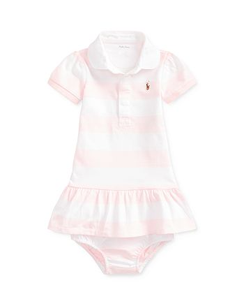Ralph Lauren - Girls' Rugby Striped Dress & Bloomers Set - Baby