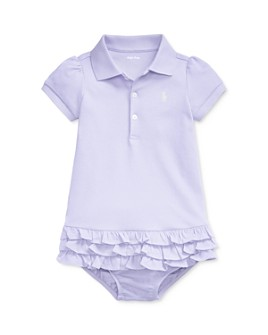 Ralph Lauren - Girls' Interlock Solid Dress & Bloomers Set - Baby