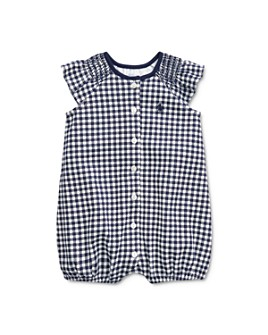 Ralph Lauren - Girls' Gingham Print One-Piece Shortall - Baby