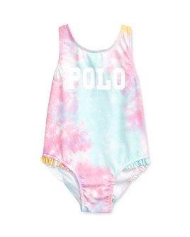 Ralph Lauren - Girls' Tie-Dyed Polo One-Piece Swimsuit - Baby