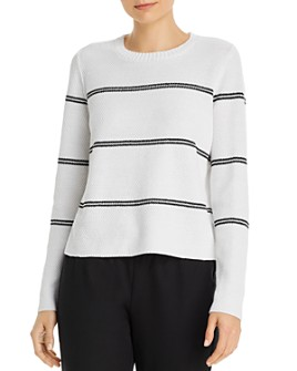 Eileen Fisher - Striped Crewneck Boxy Sweater