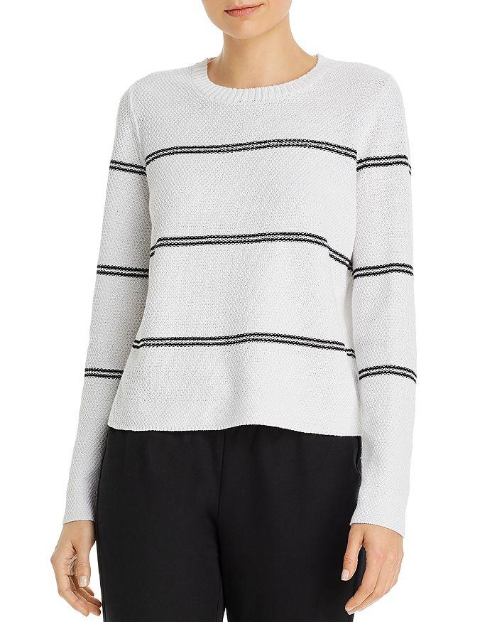 Eileen Fisher - Striped Crewneck Boxy Sweater