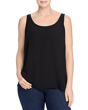Eileen Fisher Plus - Silk Scoop-Neck Tank