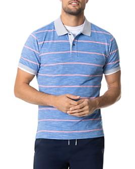 Rodd & Gunn - Teal River Cotton Stripe Regular-Fit Piqué Polo Shirt