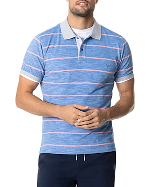Rodd & Gunn Teal River Cotton Stripe Regular-Fit Pique Polo Shirt