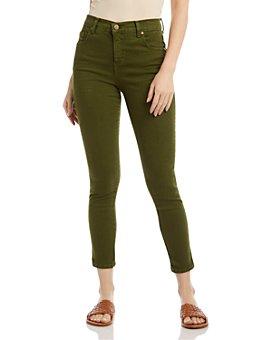 Karen Kane - Zuma Cropped Skinny Jeans in Olive