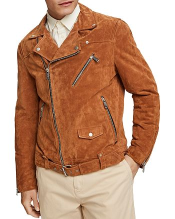 Scotch & Soda - Suede Slim Fit Biker Jacket