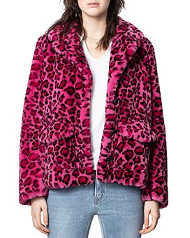 Zadig & Voltaire - Lila Faux-Fur Leopard-Print Coat