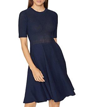 Hervé Léger - Textured A-Line Dress