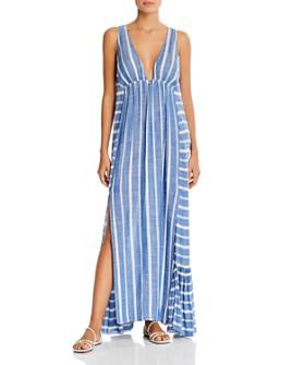 L*Space - Allison Striped Sleeveless Maxi Dress Swim Cover-Up
