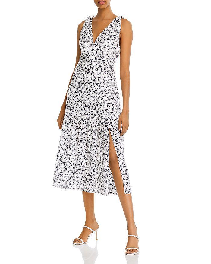 AQUA - Printed Midi Dress - 100% Exclusive
