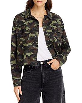 AQUA - Cotton Cropped Camo Print Jacket - 100% Exclusive