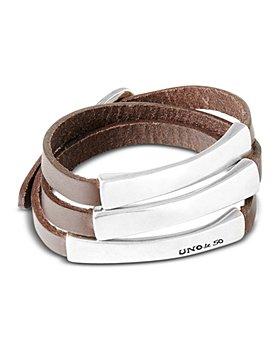 Uno de 50 - Blackout Leather Wrap Bracelet