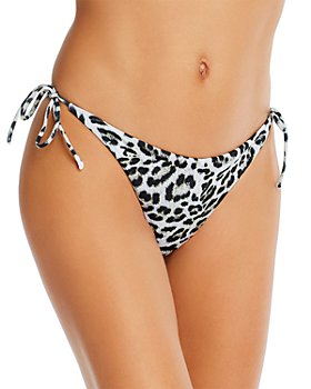 Peixoto - Toni Animal-Print Tie-Side Bikini Bottom