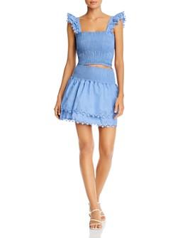 Peixoto - Mariel Smocked Top Swim Cover-Up & Belle Smocked Mini Skirt Swim Cover-Up