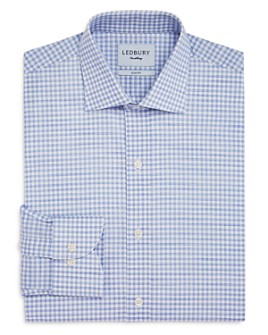 Ledbury - Buckley Gingham Slim Fit Dress Shirt