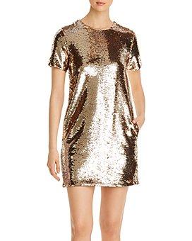 Armani - Sequined A-Line Dress