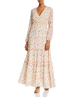 Lost and Wander - Love In Bloom Floral Print Maxi Dress