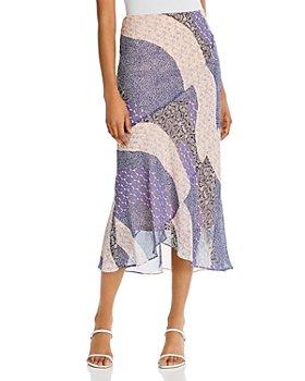 BB DAKOTA - Patch Me In Ruffled Maxi Skirt