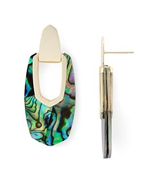 Kendra Scott Kailyn 14K Gold-Plated Mother-Of-Pearl Doorknocker Drop Earrings