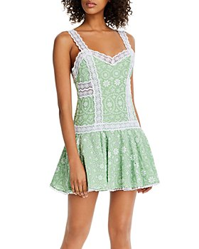 Charo Ruiz Ibiza - Biba Cotton Eyelet Mini Dress