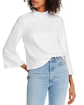 Notes du Nord - Sequined Mockneck Top