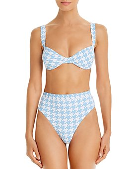 AQUA - Fall Voyage Bandeau Bikini Top & High-Waist Bottoms - 100% Exclusive