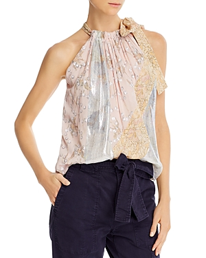 Rebecca Taylor Mixed Prints Top-Women