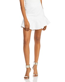 Alice and Olivia - Eriko Curved Hem Fit-And-Flare Skirt